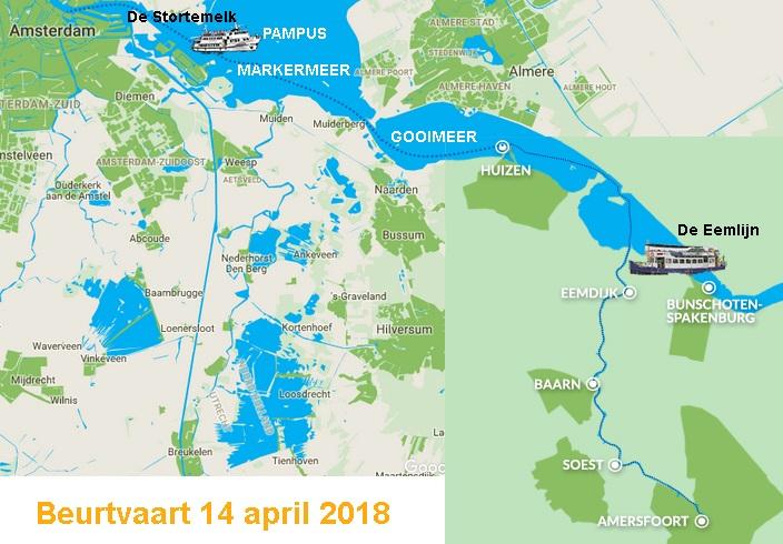 kaart beurtvaart amsterdam amersfoort 2018